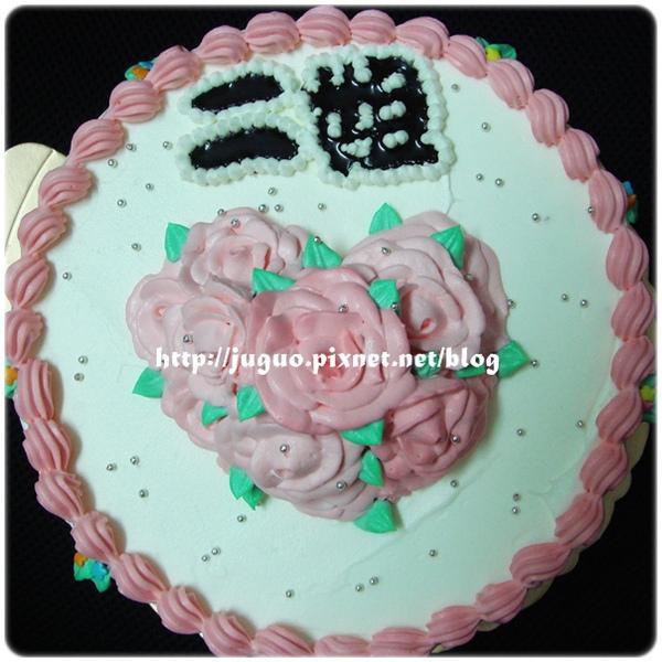 心型玫瑰花造型蛋糕