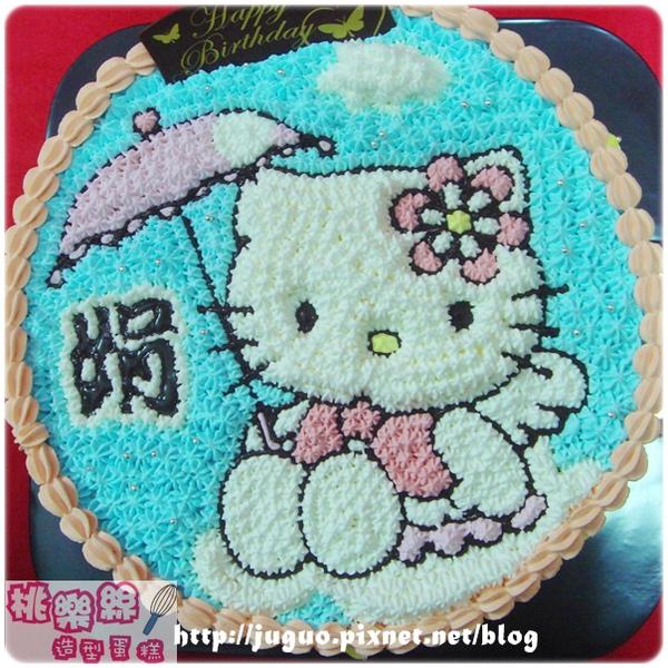 編號002_KT貓手繪卡通造型蛋糕_8吋 1090元/10吋 1390元/12吋 1890元