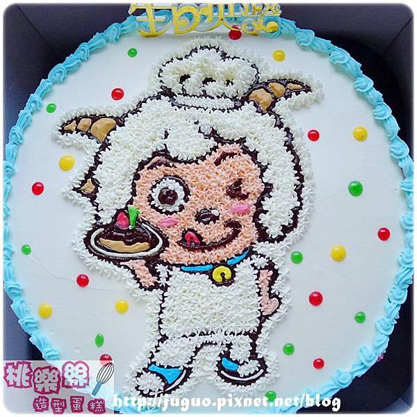 喜羊羊卡通造型蛋糕_6吋:780元/8吋:880元/10吋:1180元/12吋:1680元_NO.008