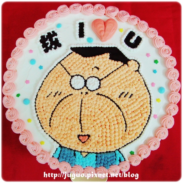 我們這一家-花爸(微笑篇)卡通蛋糕