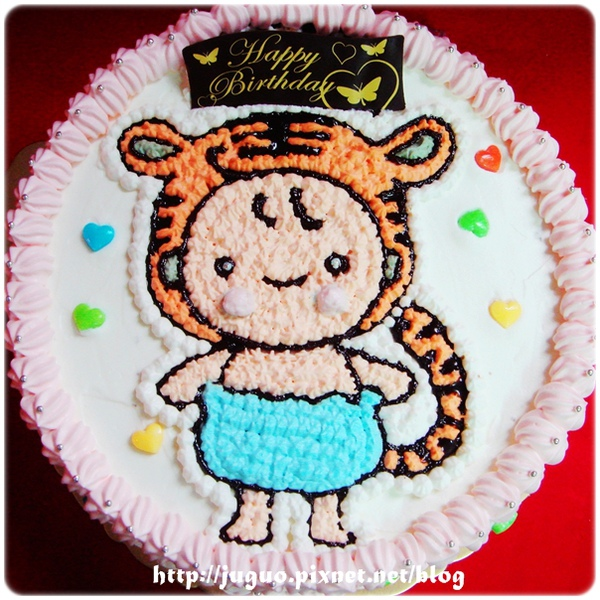 新生虎寶寶造型蛋糕