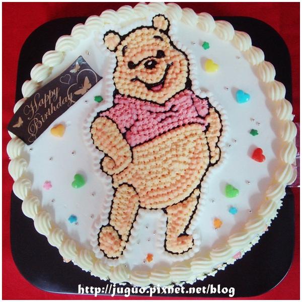 小熊維尼卡通蛋糕