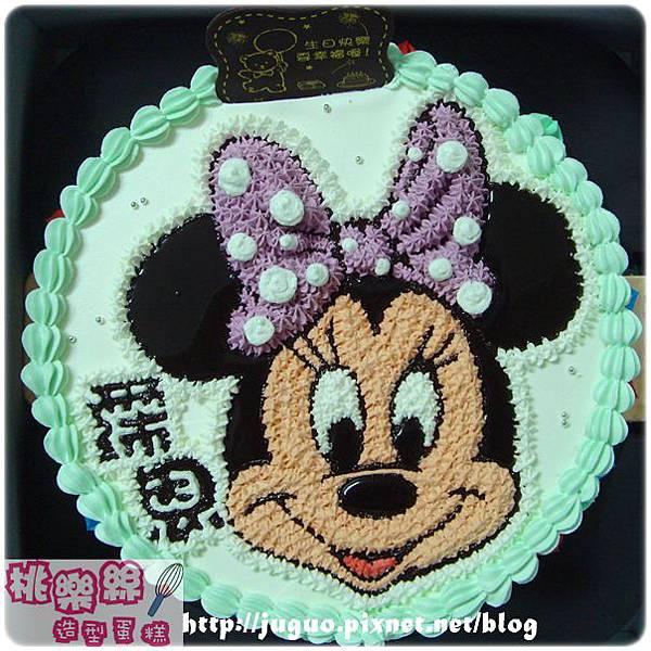 編號S004_Minnie米妮手繪卡通造型蛋糕_6吋:930元/8吋:1090元/10吋:1390元/12吋:1890元