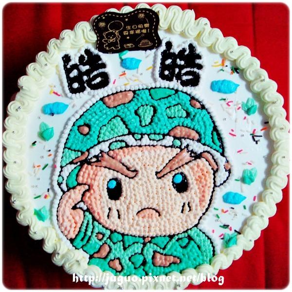 閱兵典禮之大頭兵卡通蛋糕