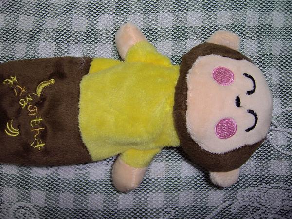 黑色髮圈、猴猴鉛筆盒袋