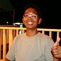到達帛琉的第一晚,小黑幫我接風