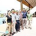 11:30時我們三人和李大使,部長Dr. Yano & David在小行記者會前合照