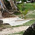 小木屋前就有吊床