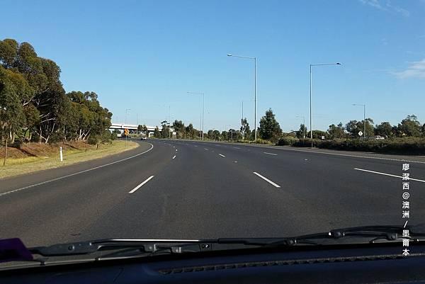 墨爾本往吉隆的公路景象