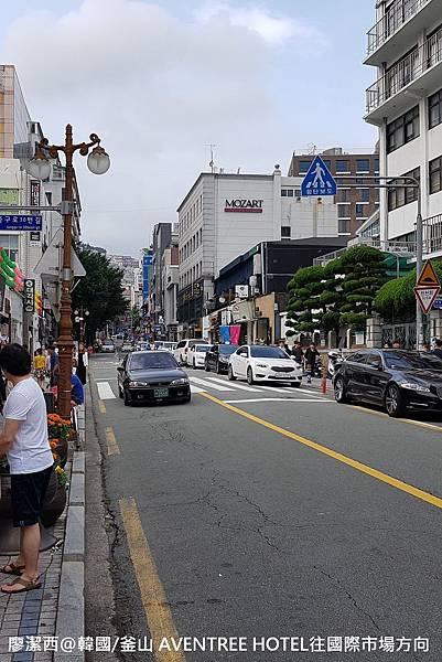 2017/07韓國/釜山 AVENTREE HOTEL往國際市場方向