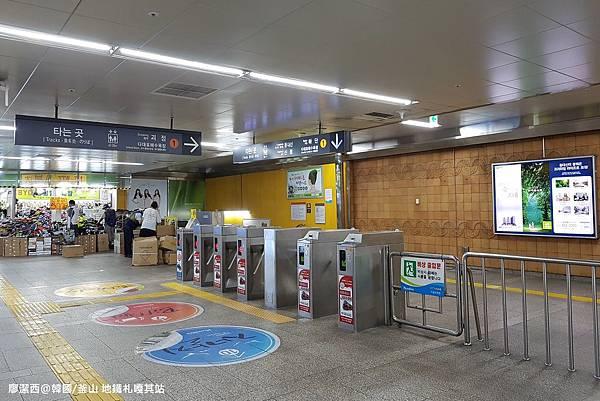 2017/07韓國/釜山 地鐵札嘎其站