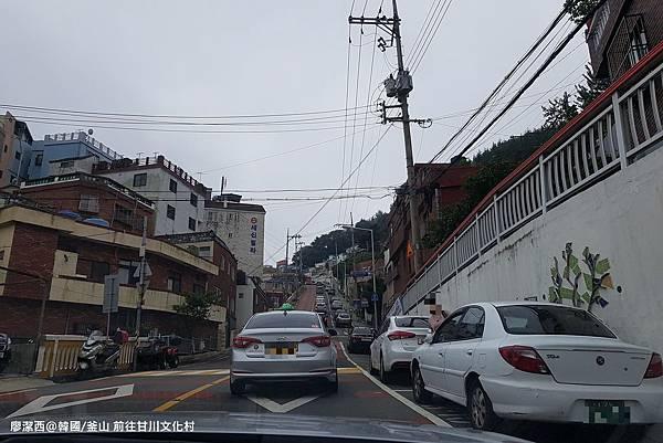 2017/07韓國/釜山 BIFF廣場前搭計程車前往甘川文化村