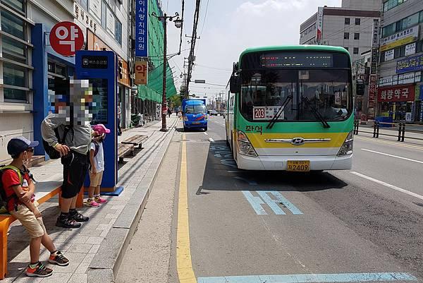 2017/07韓國/慶州 慶州車站旁的公車站牌
