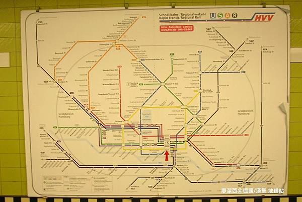 【德國/漢堡】漢堡地鐵站
