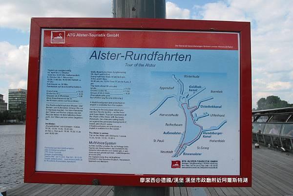 【德國/漢堡】漢堡市政廳附近阿爾斯特湖