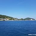 2018/07 九州/長崎 從軍艦島搭船回長崎市區的海上風景