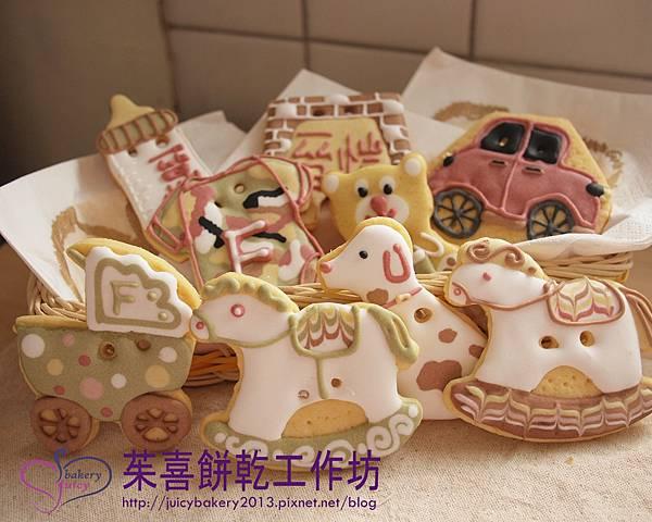大餅乾  其實男寶寶顏色也是很豐富低