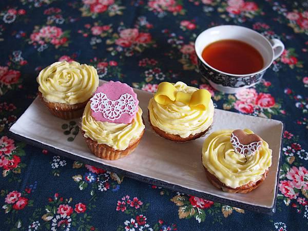 奶油糖霜杯子蛋糕們