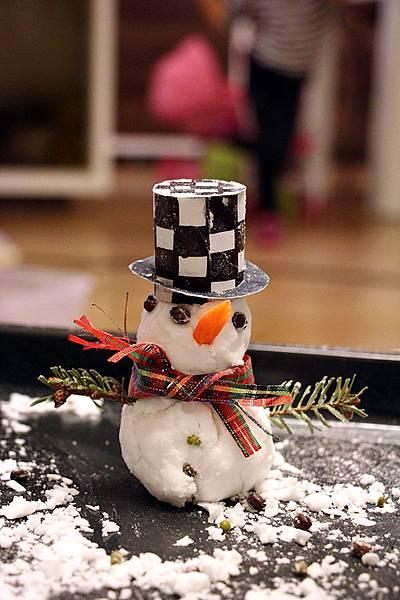 主題:居家自製雪人