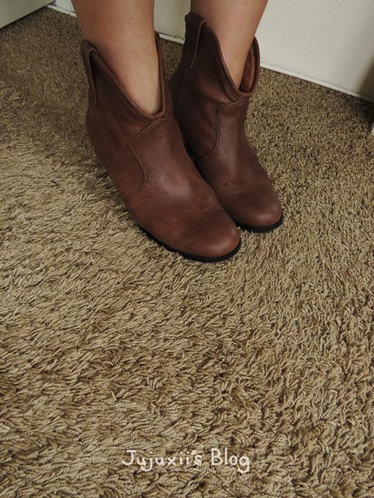 棕色短靴01