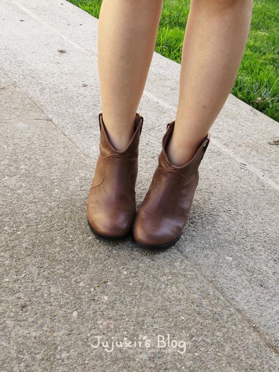 棕色短靴06