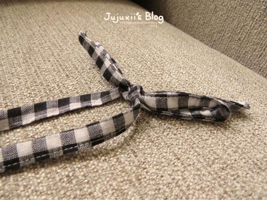 格子吊帶裙01
