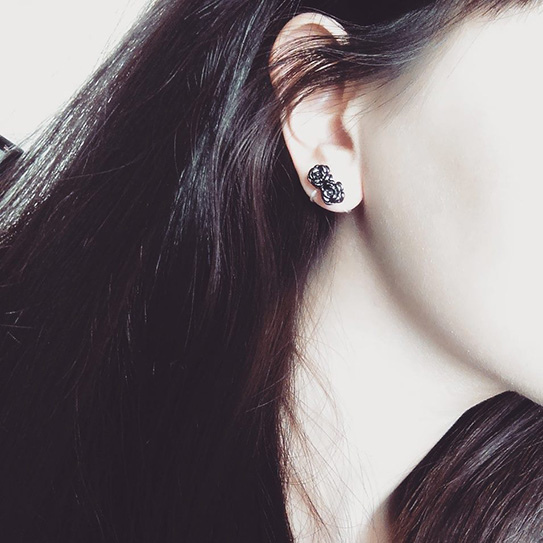 夾式耳環040