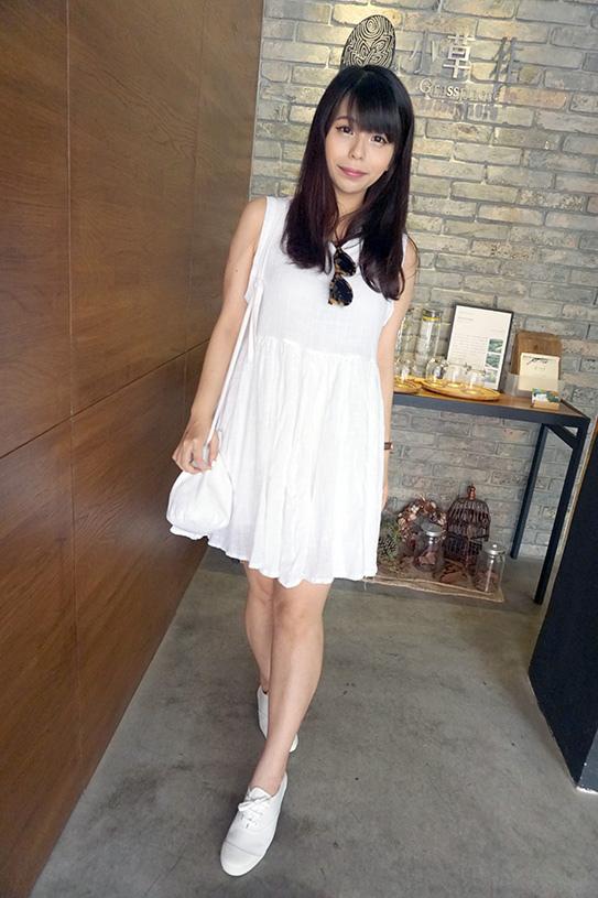 stylenanda 白洋裝04
