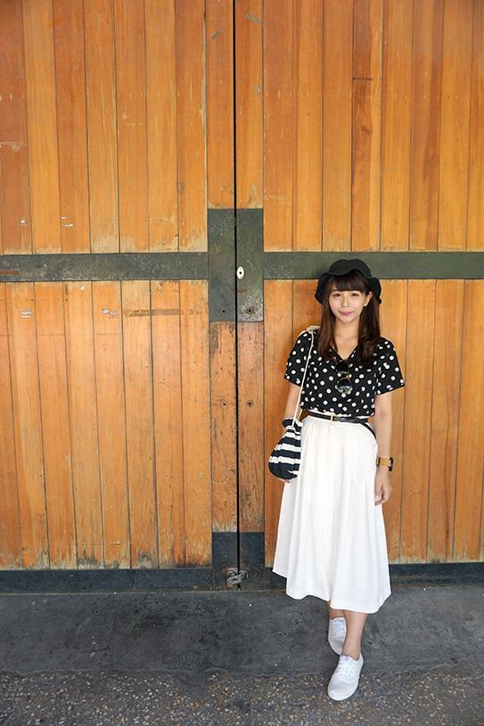 貓咪曬月亮黑白長裙分享 06.JPG