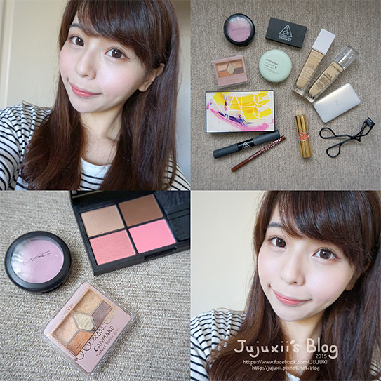 紫色x橘色清新透明感的好氣色妝容 .jpg