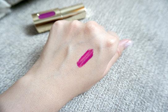 L'Oréal巴黎萊雅紫色唇釉#503 08.JPG