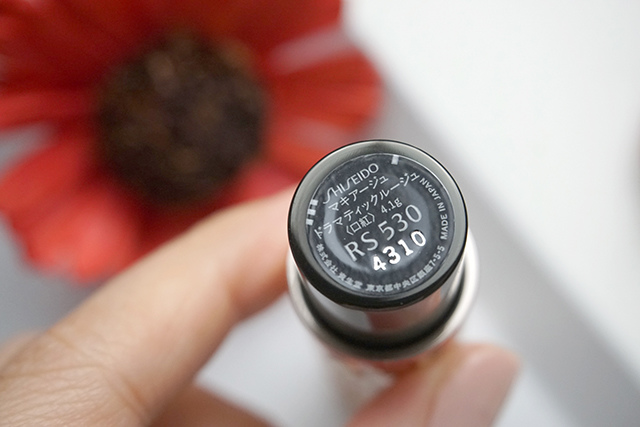 資生堂 心機星魅唇膏 RS530 02-3.JPG
