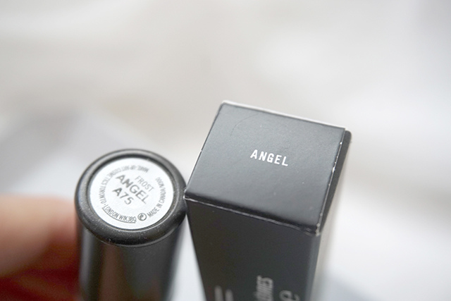 MAC lipstick霧幻性感唇膏Lavender Jade &閃亮星澤唇膏Angel 0.JPG