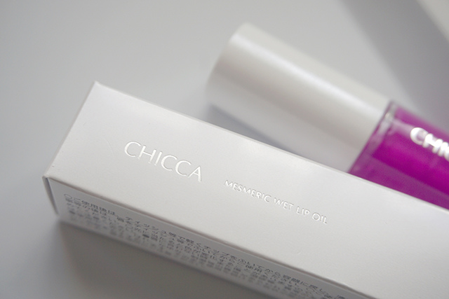 CHICCA 紫色唇油 02.JPG