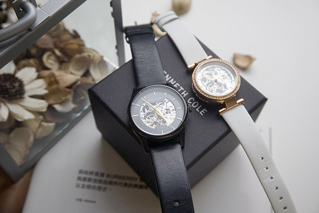 Kenneth Cole手錶  黑色白色男女對錶 04-1.JPG