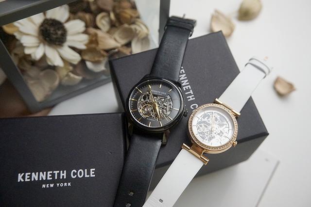 Kenneth Cole手錶  黑色白色男女對錶 04-2.JPG