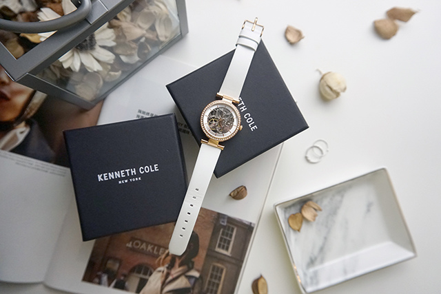 Kenneth Cole手錶  黑色白色男女對錶 08.JPG