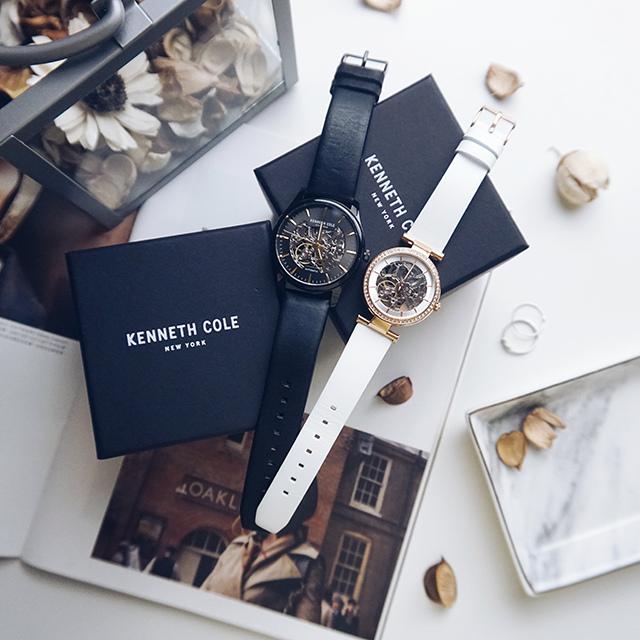 Kenneth Cole手錶  黑色白色男女對錶 33.jpg