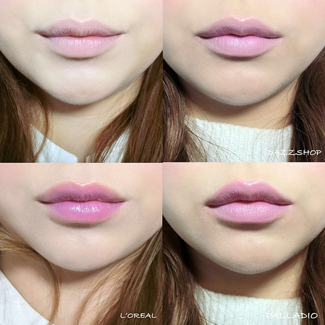 DAZZSHOP .L%5COREAL .PALLADIO紫外光唇膏 紫色透明唇膏28.JPG