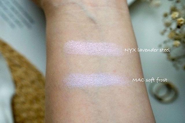 NYX漸層腮紅雙色腮紅08 紫色偏光打亮lavender steel 16.JPG
