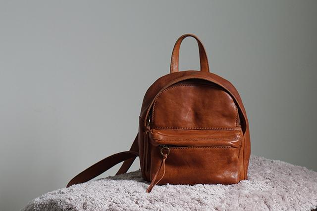 Madewell Bag真皮後背包01.JPG