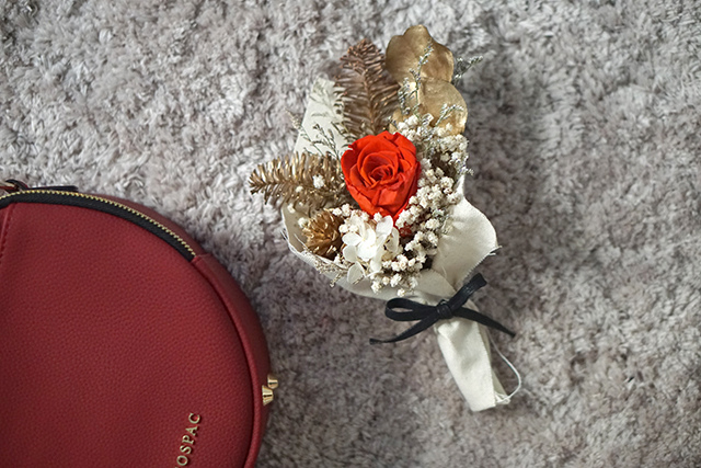 COSPAC貝果小圓包 紅色 聖誕禮盒|HC STORE07.JPG