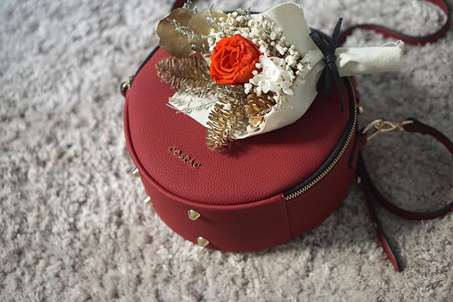 COSPAC貝果小圓包 紅色 聖誕禮盒|HC STORE29.JPG