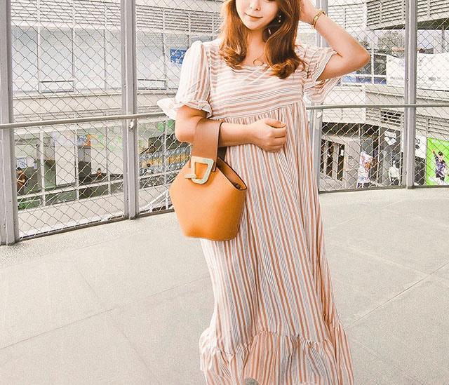 SHEIN 條紋洋裝穿搭03.JPG