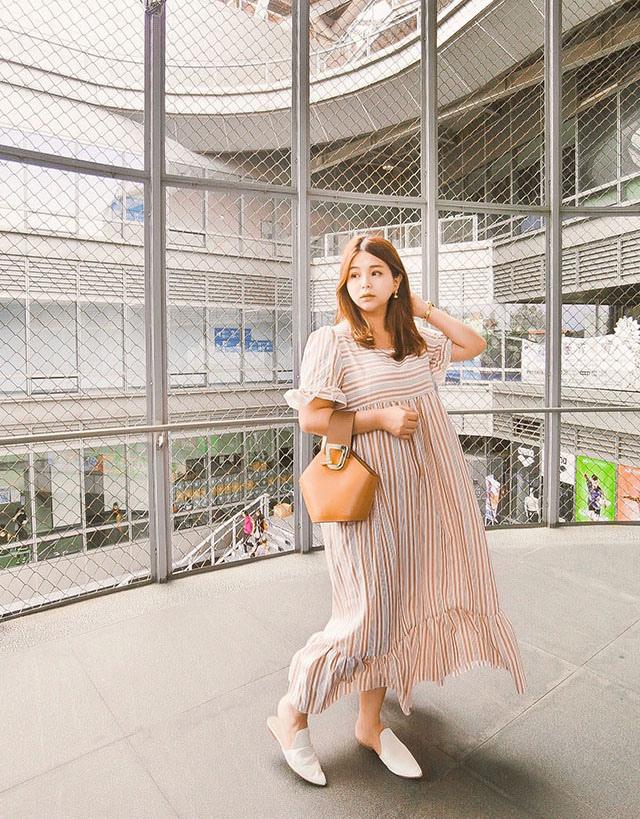 SHEIN 條紋洋裝穿搭01.JPG