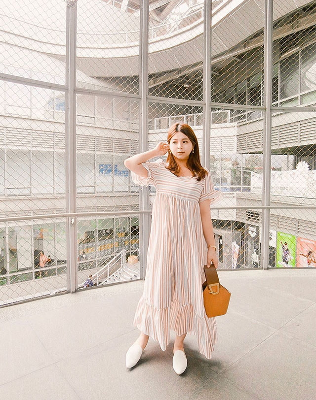 SHEIN 條紋洋裝穿搭02.JPG