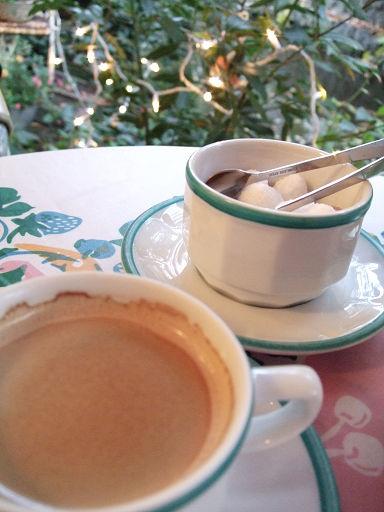 咖啡和糖球