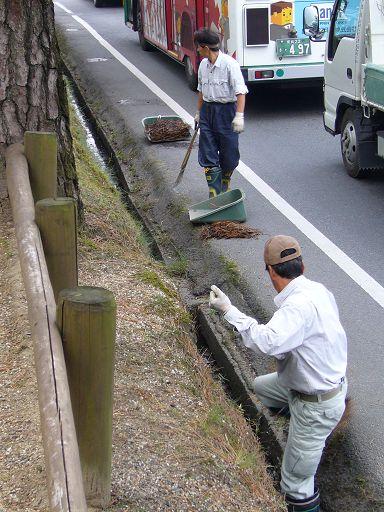 知道奈良的街道為什麼會這麼乾淨了......^O^