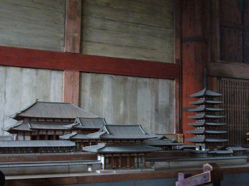 寺內的建築模型