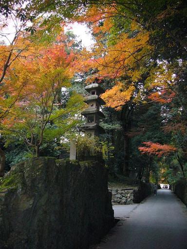 興聖寺著名的紅葉參道「琴坂」,但我們沒往裡走,僅在入口處到此一遊^O^